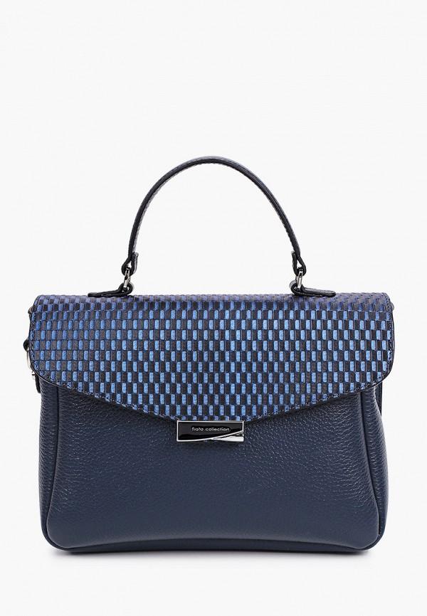женская сумка с ручками fiato, синяя