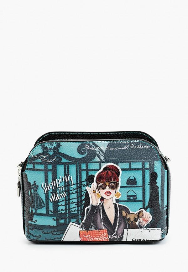 женская сумка через плечо curanni, разноцветная
