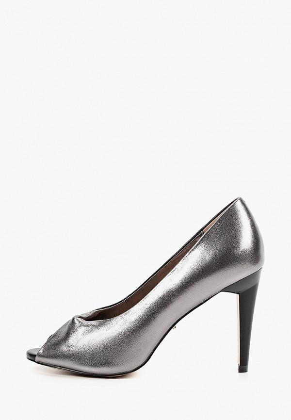 женские туфли с открытым носом vitacci, серебряные