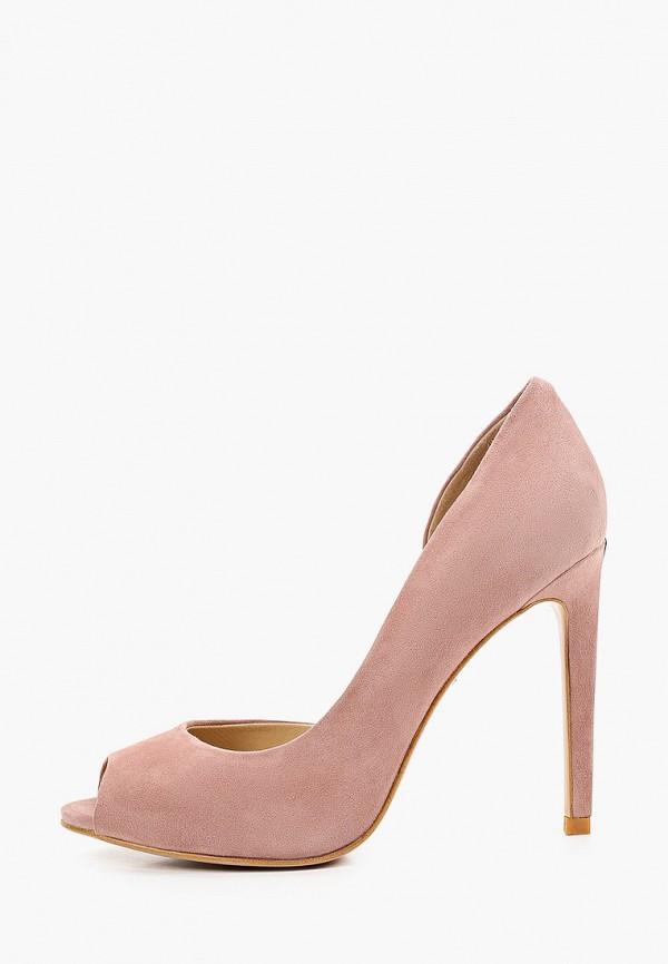 женские туфли с открытым носом vitacci, розовые