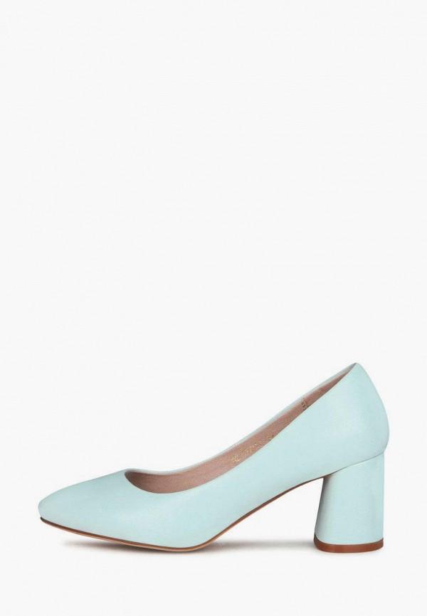 женские туфли с закрытым носом t.taccardi, бирюзовые