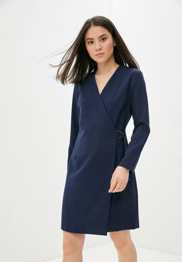 женское платье с запахом vittoria vicci, синее
