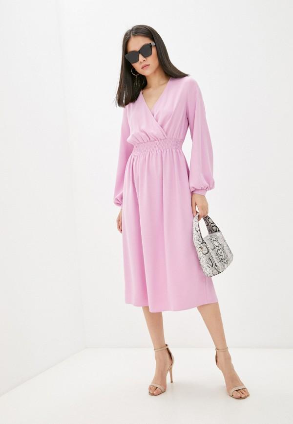 женское платье с запахом vittoria vicci, розовое