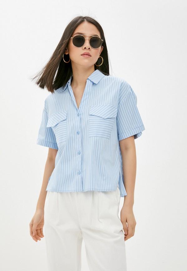женская рубашка с коротким рукавом vittoria vicci, голубая