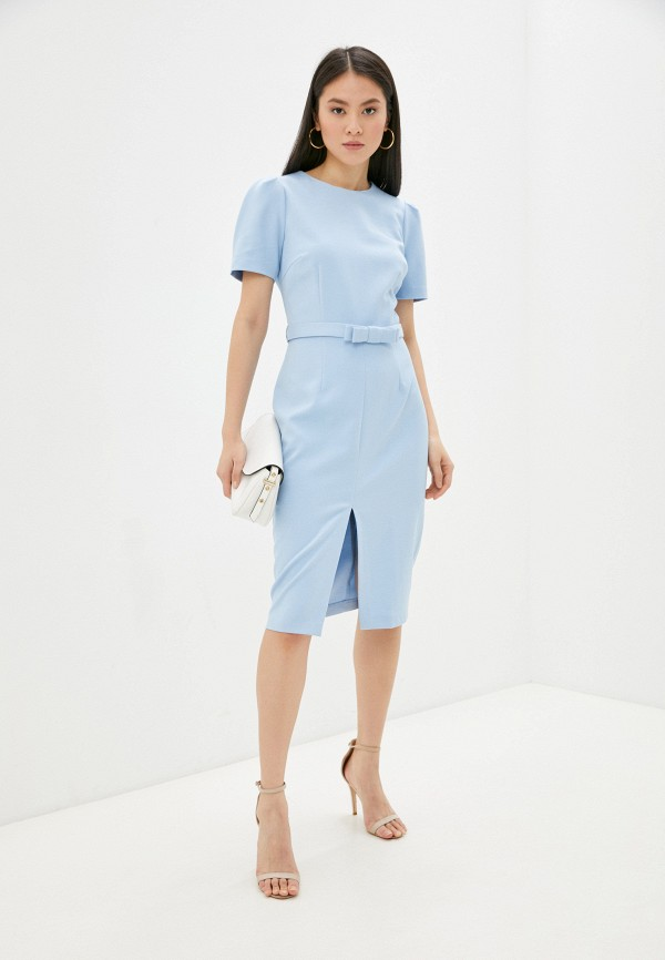 женское платье-футляр vittoria vicci, голубое
