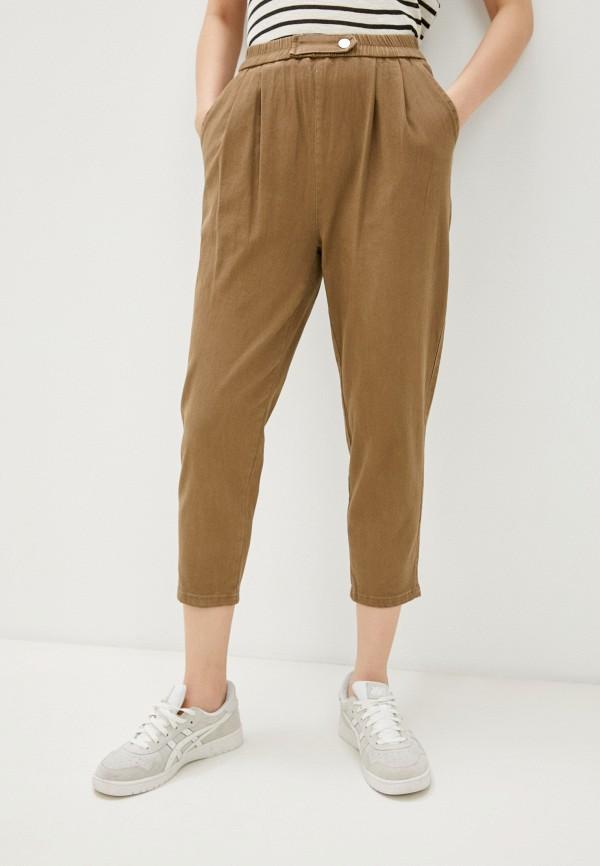 женские повседневные брюки vittoria vicci, коричневые