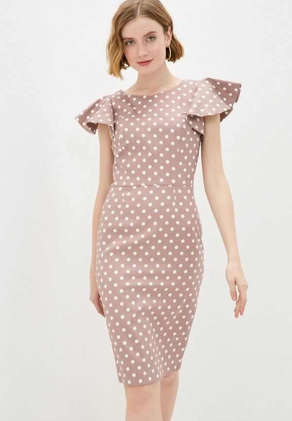 женское платье-футляр vittoria vicci, бежевое