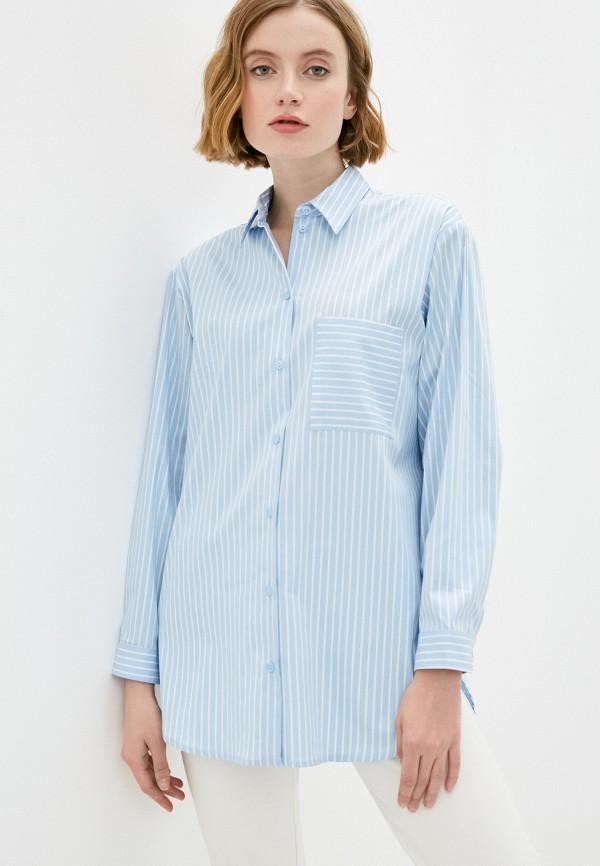 женская рубашка с длинным рукавом vittoria vicci, голубая