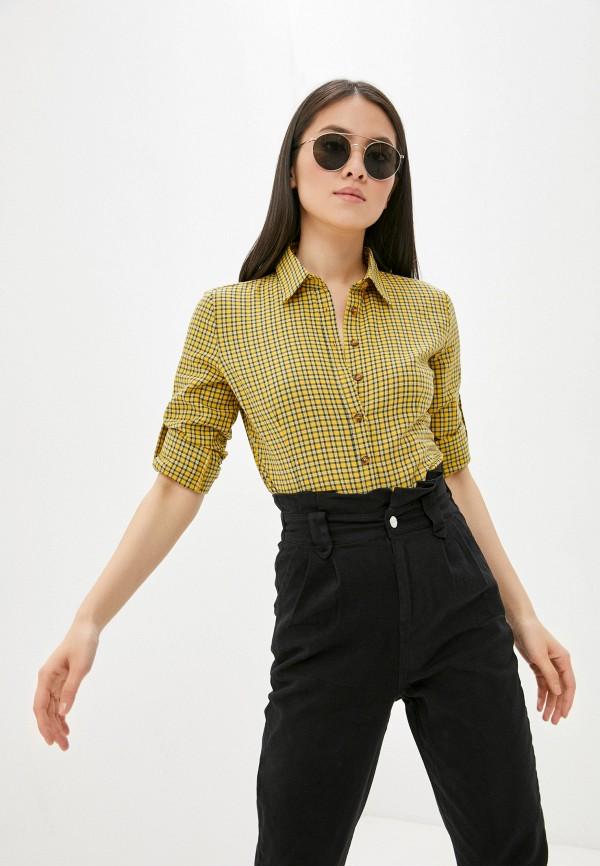 женская рубашка с длинным рукавом vittoria vicci, желтая