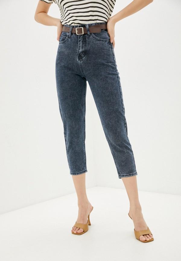 женские джинсы-мом vittoria vicci, синие