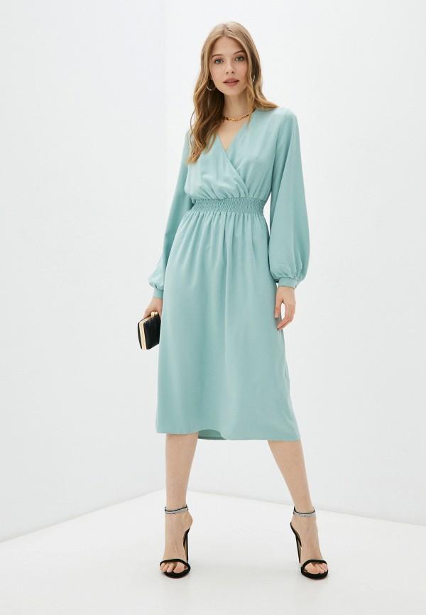 женское платье с запахом vittoria vicci, бирюзовое