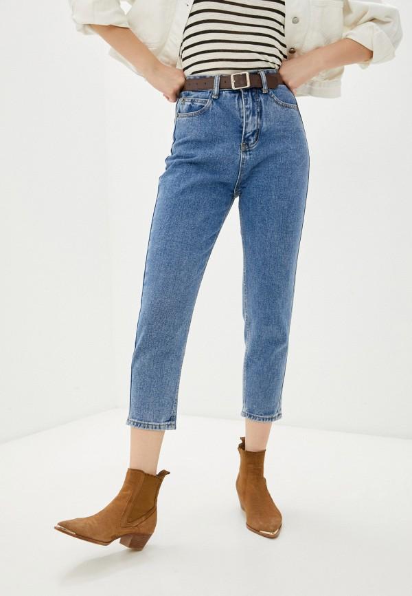 женские джинсы-мом vittoria vicci, голубые