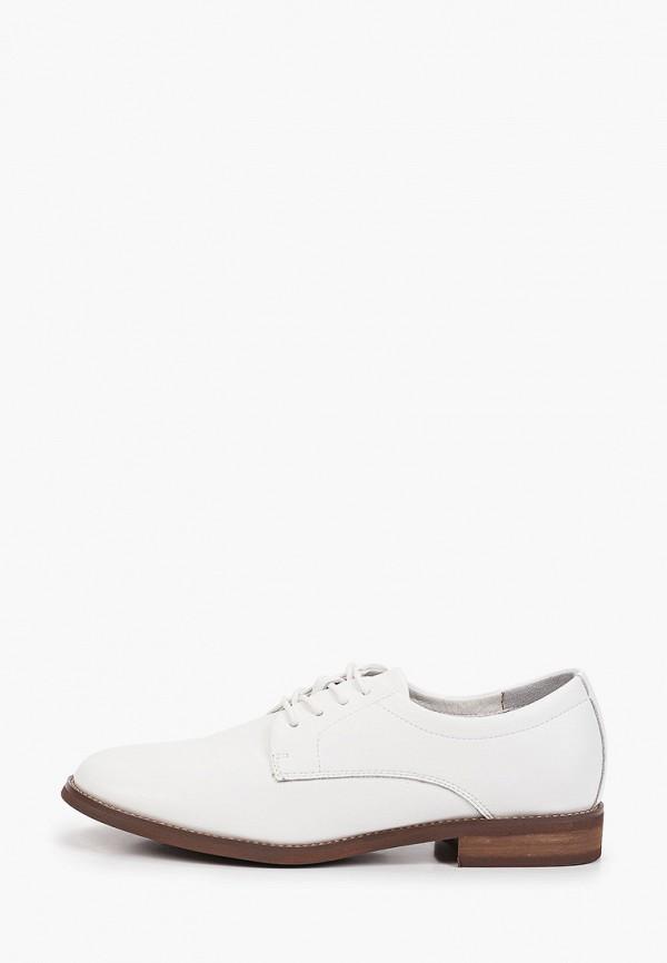 женские ботинки-оксфорды graciana, белые
