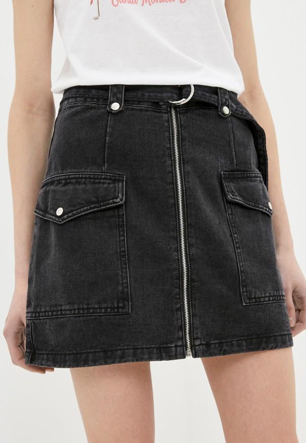 женская джинсовые юбка befree, черная