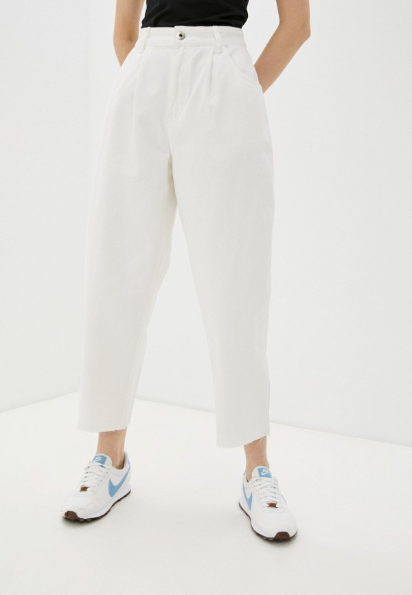 женские джинсы бойфренд befree, белые
