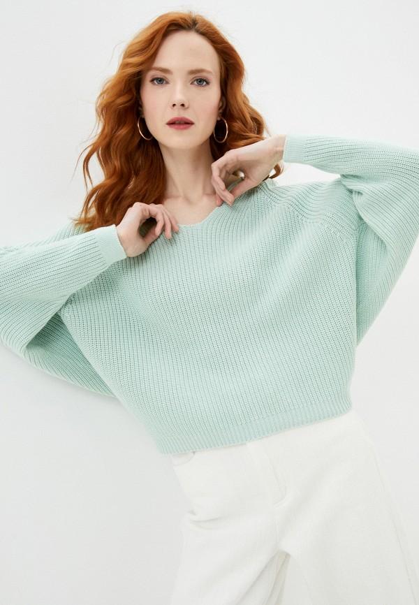 женский пуловер francesco donni, зеленый