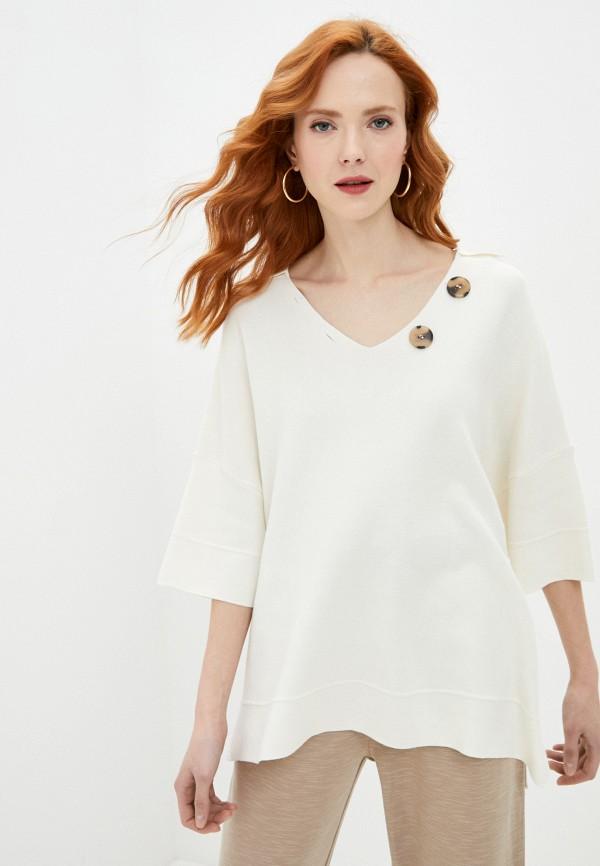 женский пуловер francesco donni, белый