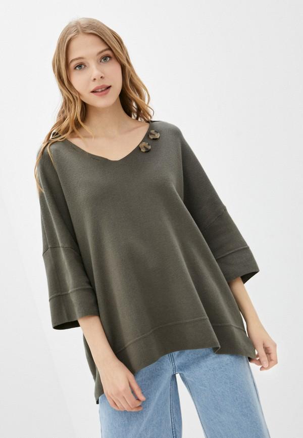 женский пуловер francesco donni, хаки