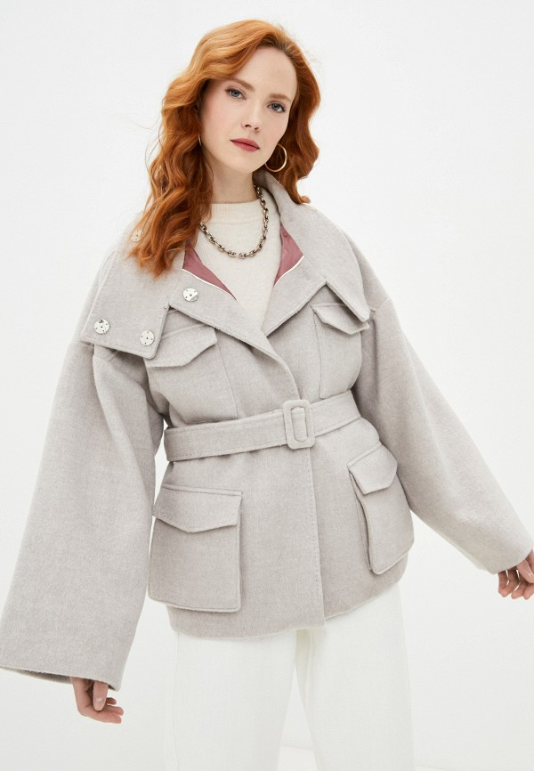 женское пальто francesco donni, бежевое