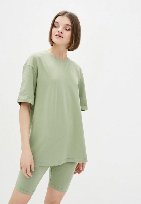 женская футболка pate, зеленая