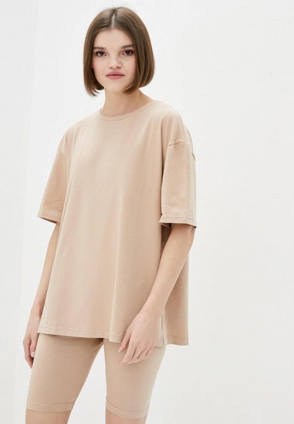 женская футболка pate, бежевая