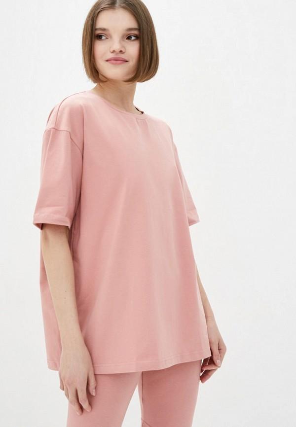 женская футболка pate, розовая