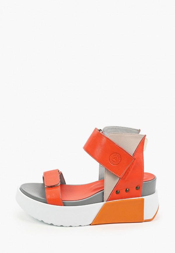 женские босоножки airbox, оранжевые
