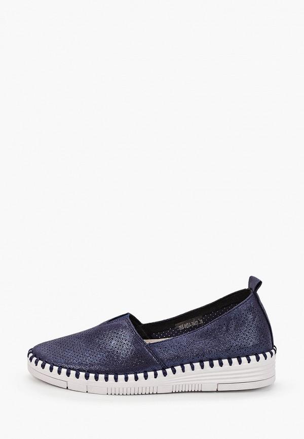 женские туфли с закрытым носом bridget, синие