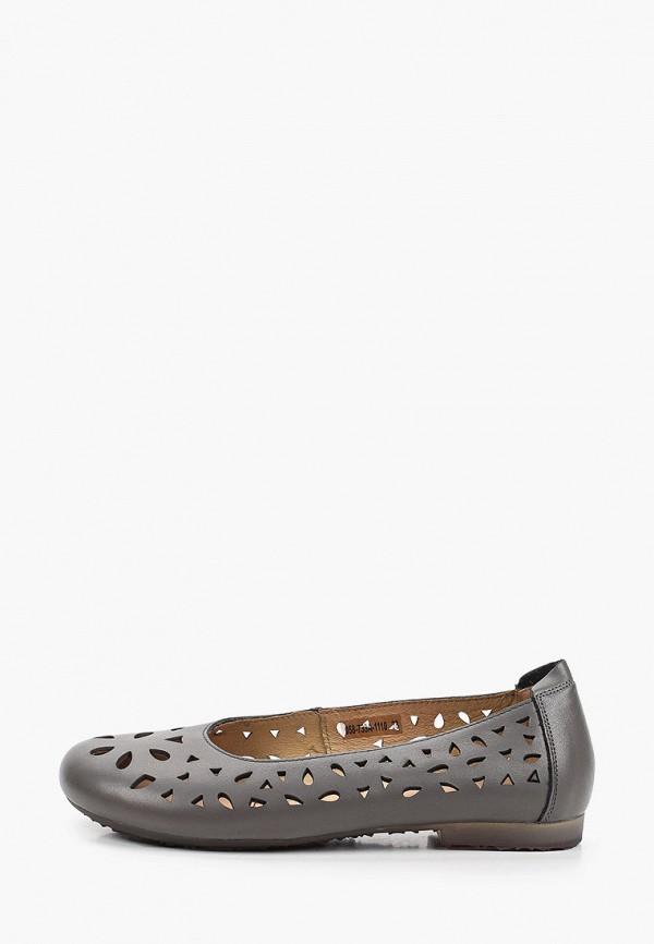 женские туфли с закрытым носом thomas munz, серые