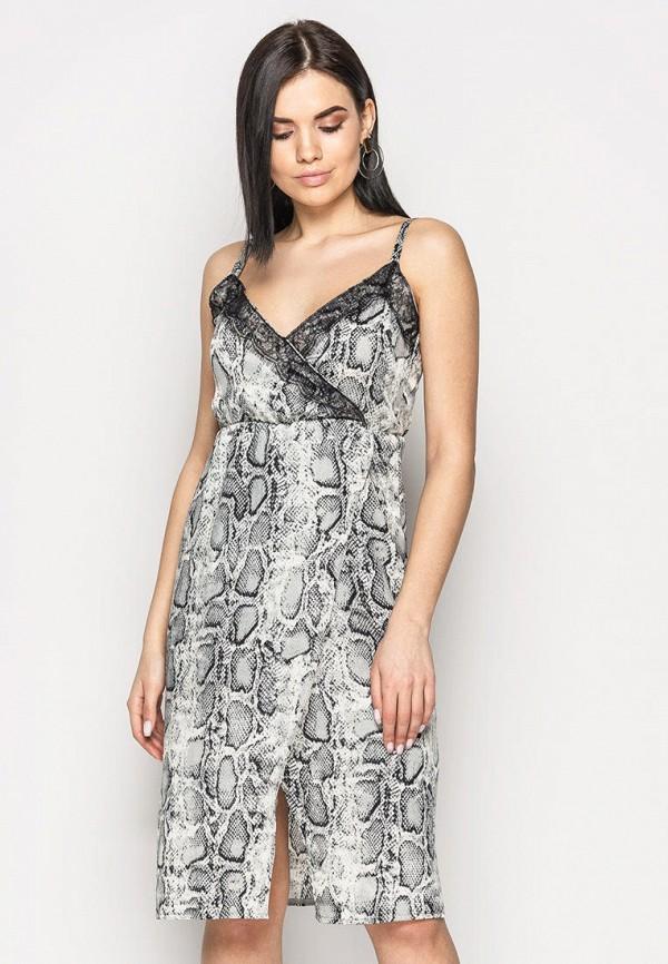 женский сарафан larionoff, серый