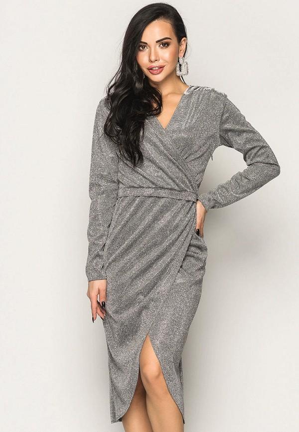 женское платье larionoff, серебряное