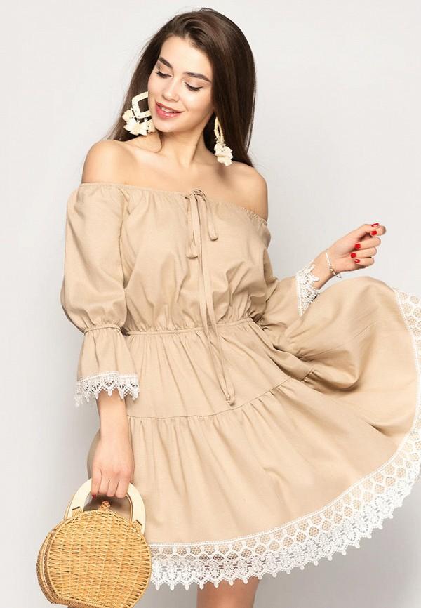 женское платье larionoff, бежевое