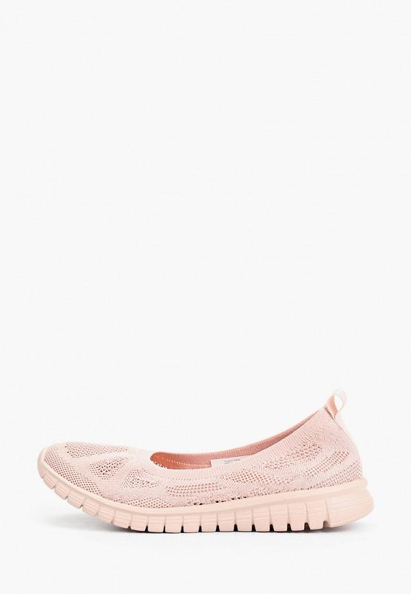 женские балетки demix, розовые