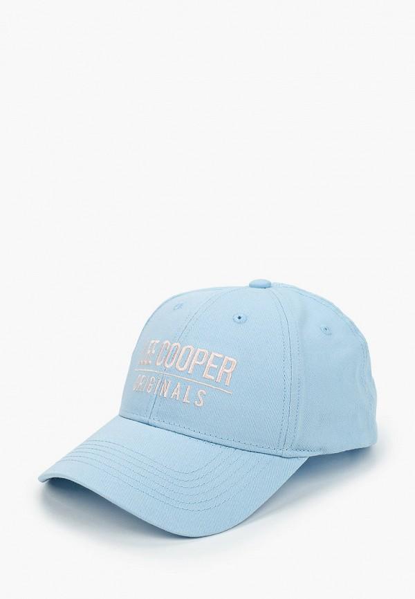 женская бейсболка lee cooper, голубая