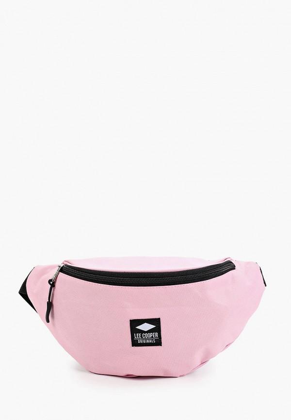 женская поясные сумка lee cooper, розовая