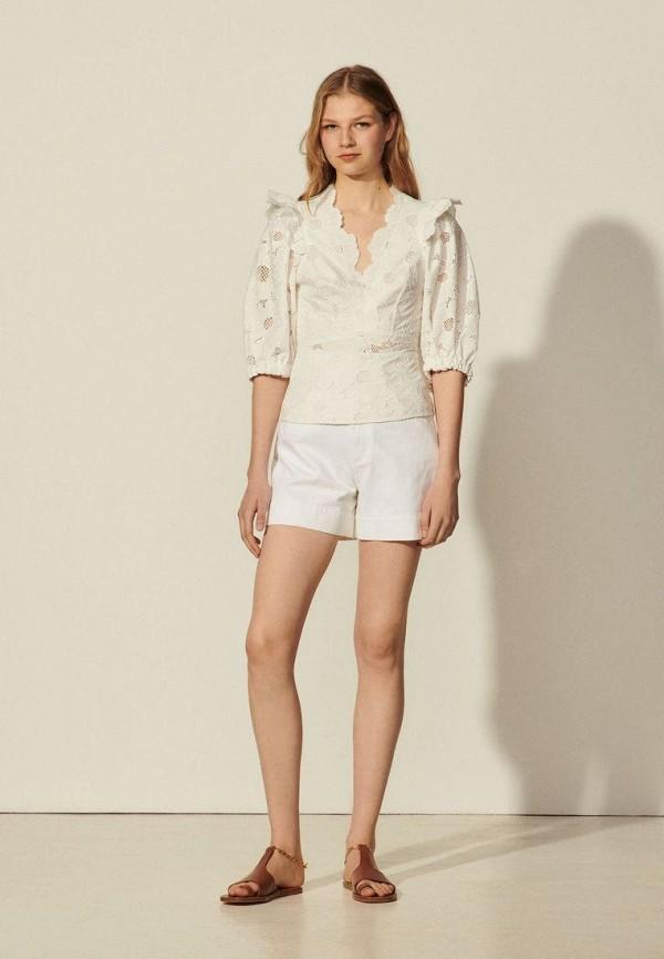 женская блузка sandro, белая