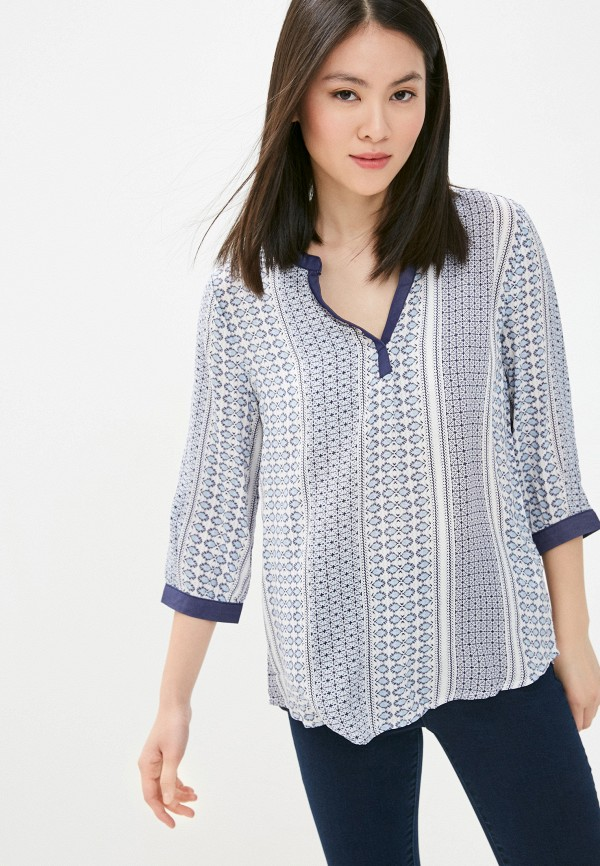 женская рубашка с коротким рукавом colin's, белая