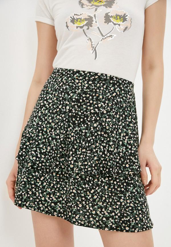 женская юбка-трапеции colin's, черная