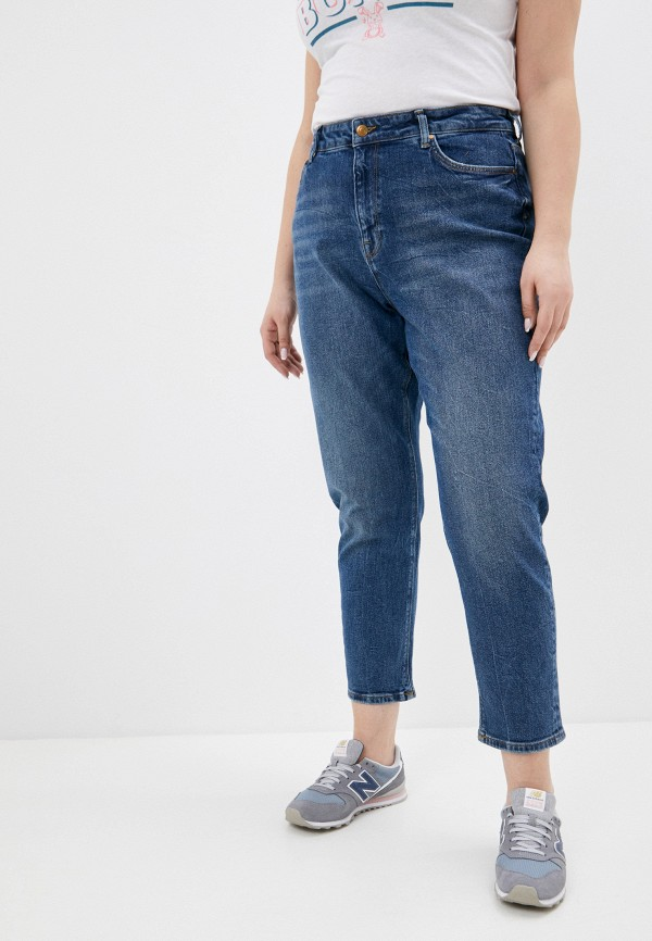 женские джинсы-мом colin's, синие