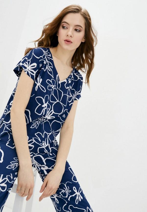 женская футболка garne, синяя