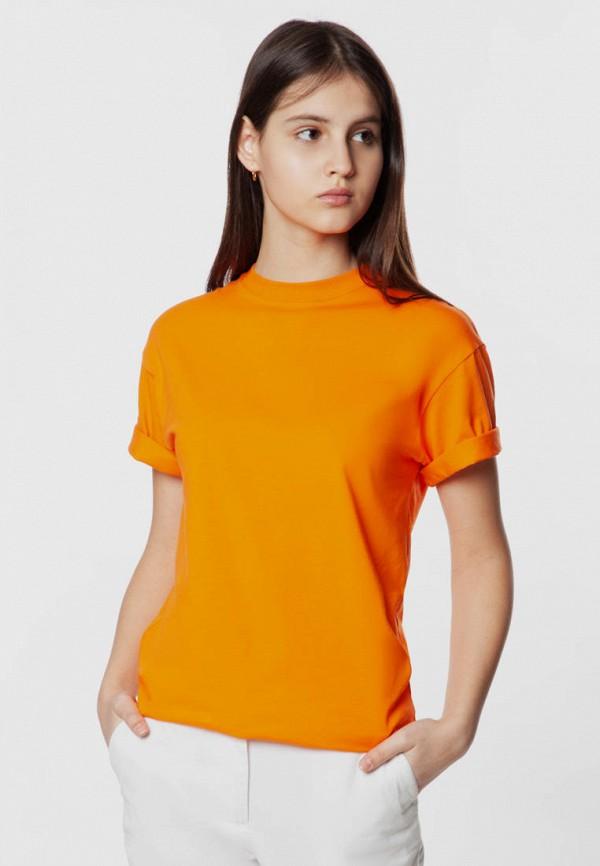 женская футболка arber, оранжевая
