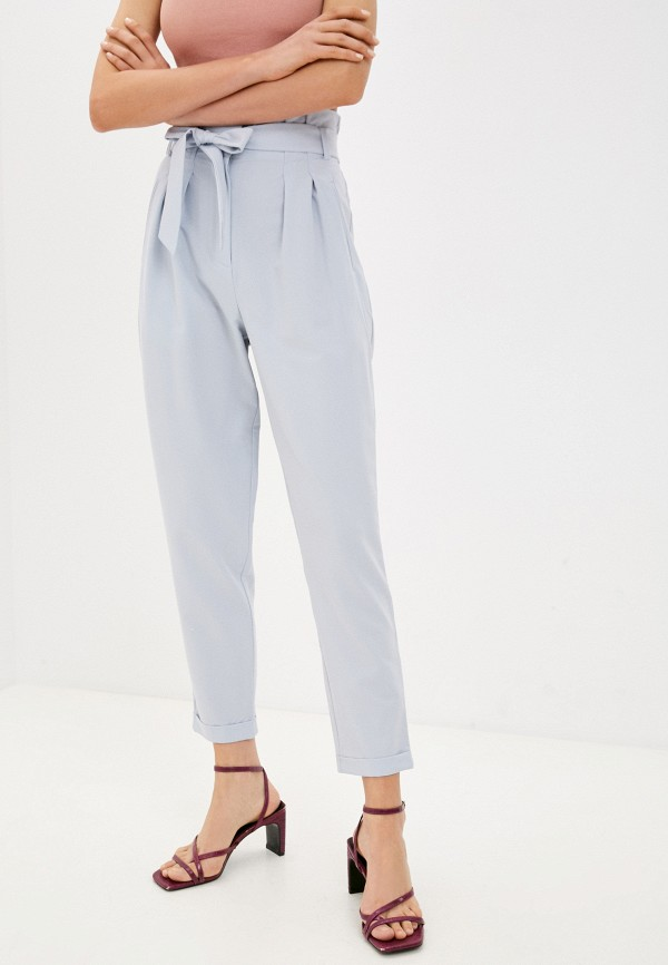 женские повседневные брюки love republic, голубые