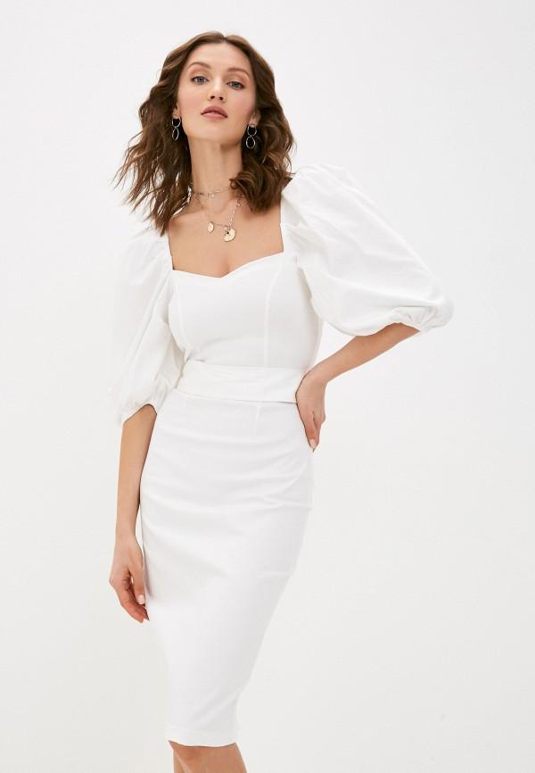 женское платье-футляр love republic, белое