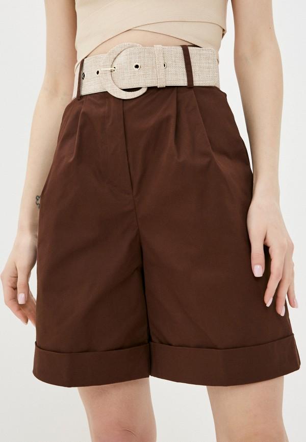 женские повседневные шорты love republic, коричневые