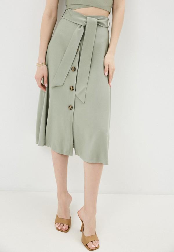 женская юбка-трапеции love republic, зеленая
