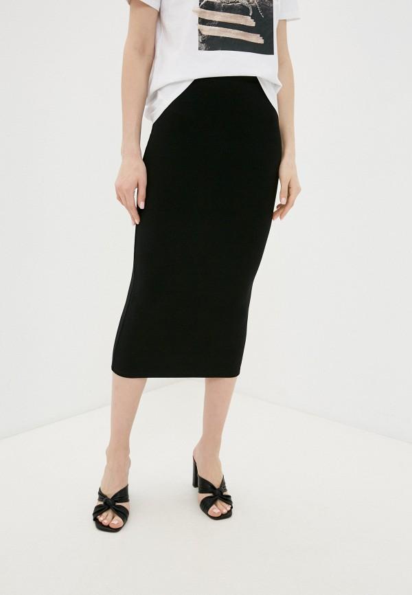 женская узкие юбка love republic, черная