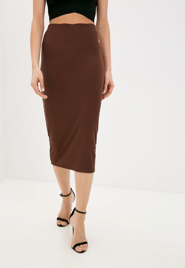 женская узкие юбка love republic, коричневая