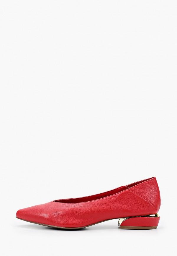 женские туфли с закрытым носом dino ricci, красные