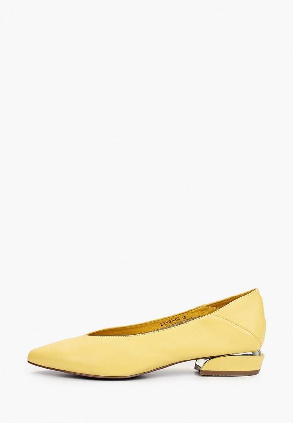 женские туфли с закрытым носом dino ricci, желтые