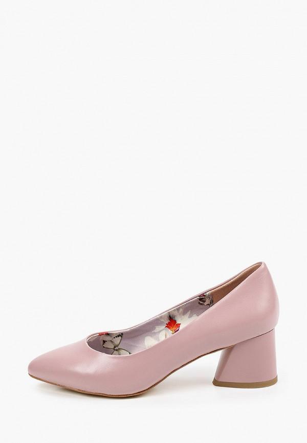 женские туфли с закрытым носом dino ricci, розовые